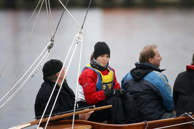 "EM 9:an i Zoom 8, Emelie Carlsson, gastar ombord på ""Millan"" under en Tisdagssegling"