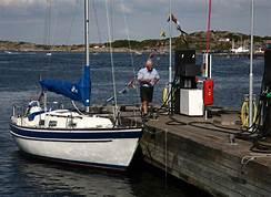 sjömack med båt